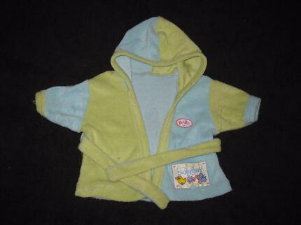 Zapf Creation Baby Born Hooded Bath Robe⁄Dressing Gown Gwelup Stirling Area Preview