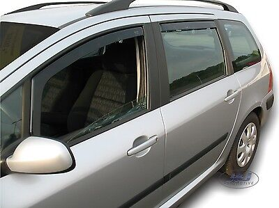 DPE26125 PEUGEOT 307 SW Estate 2000-2008  wind deflectors 4pc TINTED HEKO