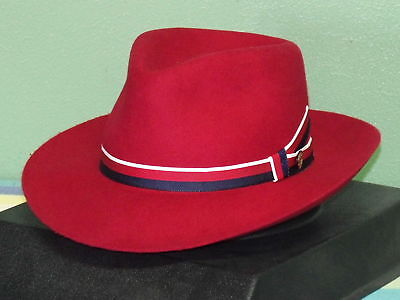 STETSON AVIATRIX AGENT CARTER RED FEDORA HAT