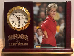 Baylor Lady BEARS Basketball Desk Clock Howard Miller KIM MULKEY National Champs