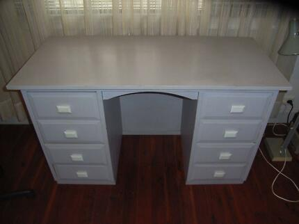 Used Grey Timber Office Desk