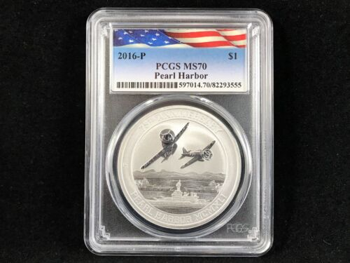 2016-P S$1 Pearl Harbor Perth Mint 1 oz. .9999 Silver PCGS MS70