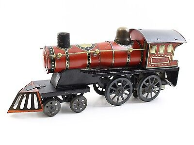 "Gunthermann ASGW Prewar 12"" Steam Locomotive #1273 Tin Windup Floor Train DRGM"