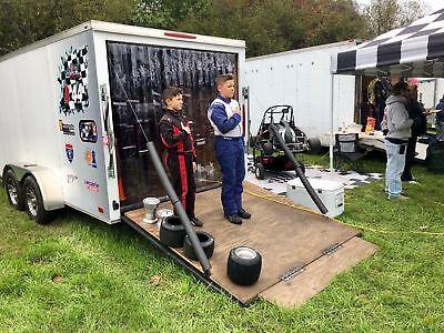 6 X 7 Strip Curtain Door Racing For Utility Trailer 72 X 84 Race Work Rv Pvc