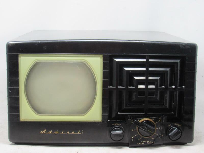 """Vintage ADMIRAL 17T11 7"""" Bakelite Table Top Tv Television Free Shipping!"""