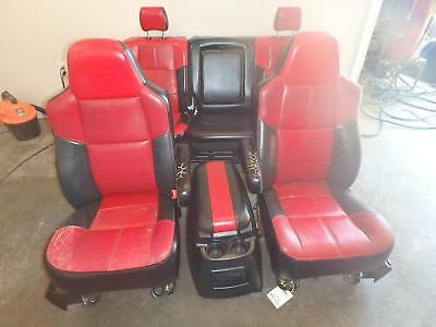 99-07 Ford F250 Front Rear Seat W/console Red Black Lariat Outlaw Power Custom