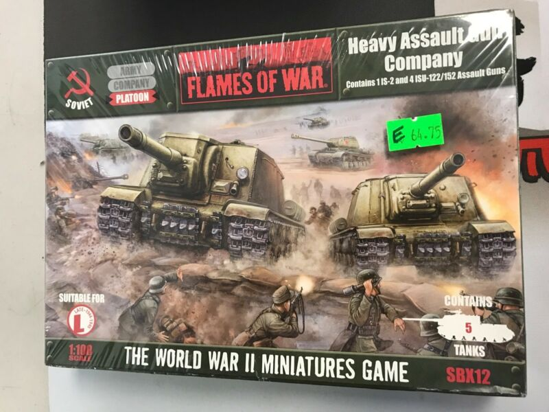 Heavy Assault Gun Company - Soviets - FOW Flames of War - SBX12 - NIB