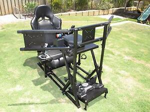 Racing or Flight Simulator Rig with Triple Monitor Stand Seat Sim Ellenbrook Swan Area Preview