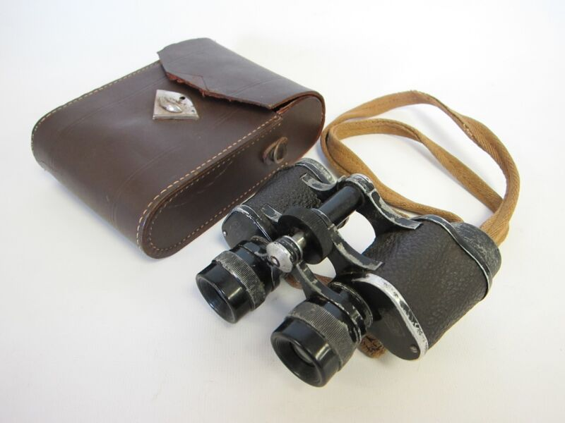 Vintage Military Marine Glass JAGD REX Binoculars 8x30 Antique Marineglas