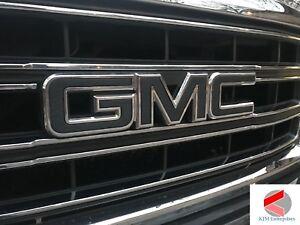 GMC Sierra Emblem Overlay Decal CARBON BLACK | PRECUT SET OF 2 + FREE SHIPPING