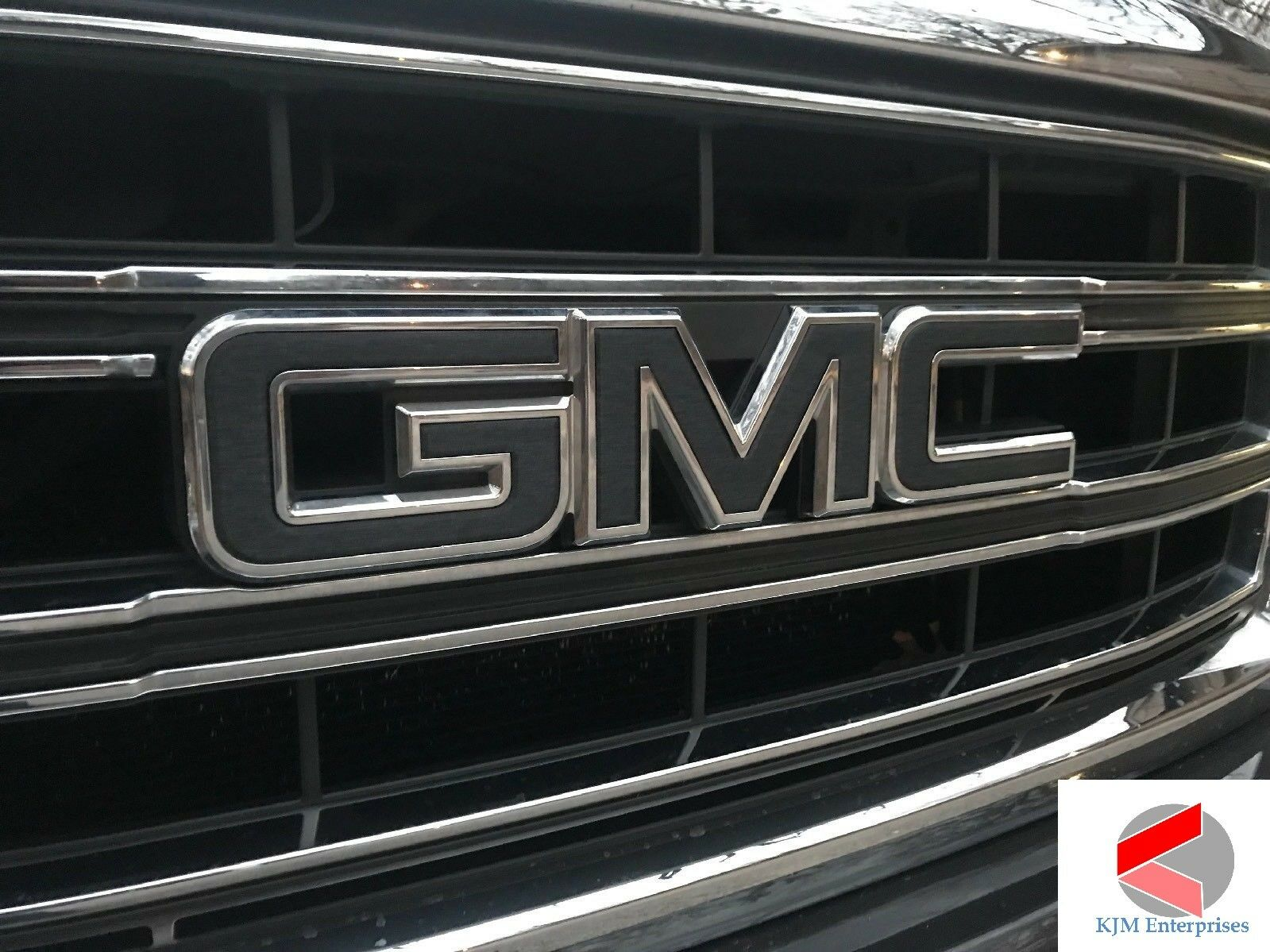 GMC Sierra Emblem Overlay Decal CARBON BLACK Front & Rear | PRECUT | NO CUTTING