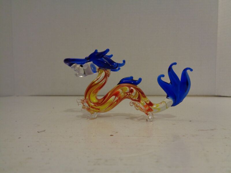 Art Glass Sea Serpent Dragon Glass Figurine