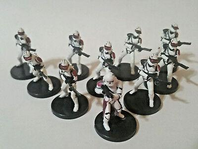 Star Wars Miniatures RARE Clone Commander Bacara 21/60 Clone trooper SQUAD