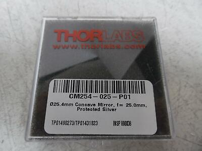 Thorlabs Cm254-025-p01 1 Silver-coated Concave Mirror F25.0 Mm