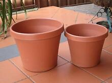 Planterra plastic cylinder planter pots - terracotta colour Strathfield Strathfield Area Preview