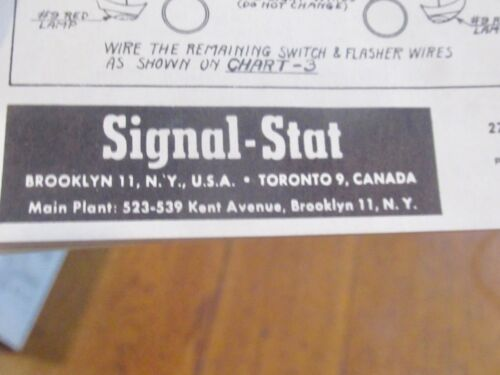 wiring diagram for signal stat 700 1940s  1950s car truck signal stat turn signal switch dodge ford  1940s  1950s car truck signal stat turn