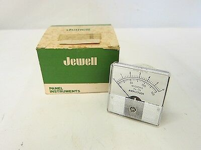 New In Box Jewell Panel Instruments Amplitude Gauge Meter Microns 0-150 A9-5593