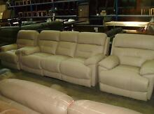 3 STR ELECTRIC RECLINERS ENDS & 2 SINGLE ELECTRIC 100% LEATHER Thebarton West Torrens Area Preview