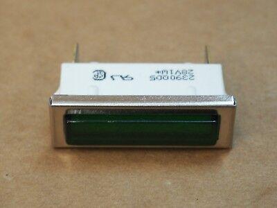 "( QTY 1 ) Green Diffused Panel Mount Indicator Lamp 1/4"" Mount 28v / 2390QD5-28V"