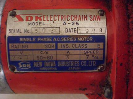 Rare Vintage Electric Chainsaw 1968 - working condition.