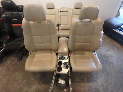 Jeep Grand Cherokee Front & Rear Seat Console Tan Leather Power Heat 14 15 16 17