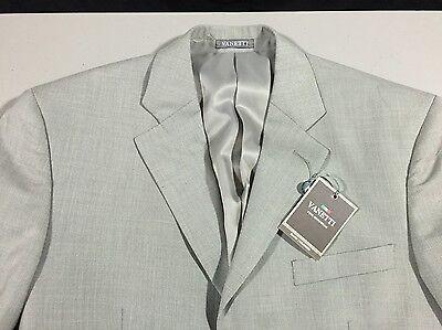Vanetti Blazer Sport Coat Size 38R New NWT Gray Three Button Rayon Blend