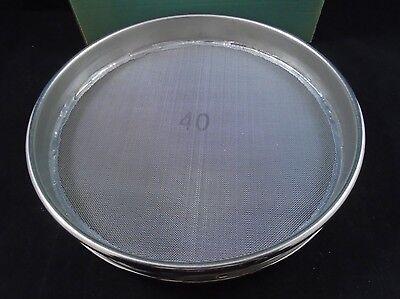 New Vwr Usa Standard Stainless Steel 40 8 Diameter Mesh 425m Testing Sieve