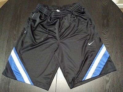 8c9556798b40a7 Nike XL men s basketball-style shorts black with blue and white trim