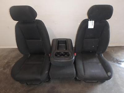 07-14 Chevrolet Silverado 1500 2500 3500 Front Seat Console Black Cloth Manual