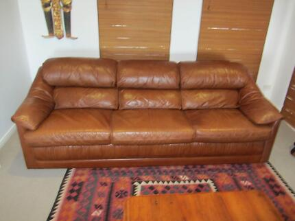Moran Leather 3 + 2 Single Sofa's Wurtulla Maroochydore Area Preview