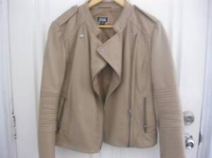 Just Jeans leather tan jacket Size 12 Doubleview Stirling Area Preview