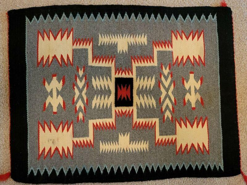 "vintage Navajo rug 22"" x 17"""
