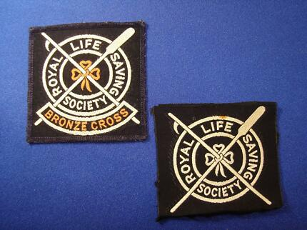 COLLECTABLE – c.1970 ROYAL LIFE SAVING SOCIETY CLOTH BADGES