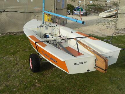 "SABRE class sailing dinghy ""CLOCKWORK"" Glenelg South Holdfast Bay Preview"