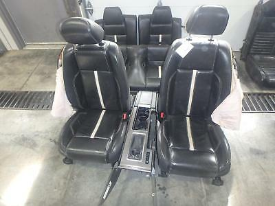 11-14 Ford Mustang Front Rear Seat Black Leather Heat Power Oem