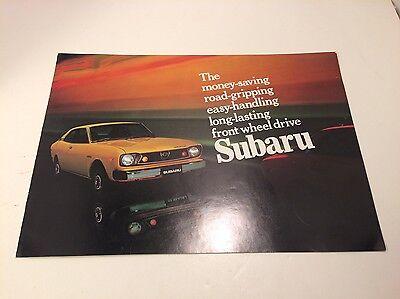 Subaru Brochure - Vintage - 1970s - Nice