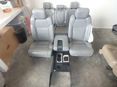 2017 Toyota Tundra Limited Front Rear Seat Console Grey Leather Heat Power Crew