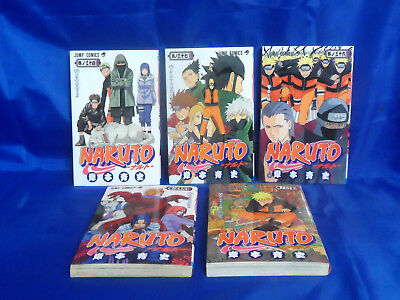 Manga Naruto Vols. 34, 35, 36, 37 & 39 Jump Comics (Japanese) Anime, used for sale  Shipping to Canada