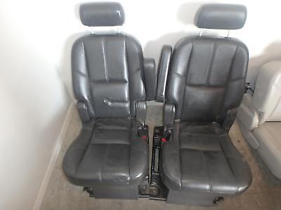 07-14 Chevrolet Gmc Suburban Yukon 1500 2nd Row Rear Seat Black Leather Heated