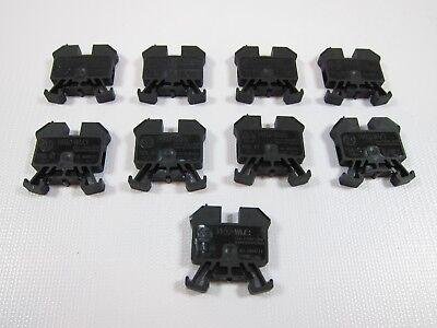 Lot Of 9 New Allen Bradley 1492-wm3-b Series B Terminal Blocks 1492wm3b Black