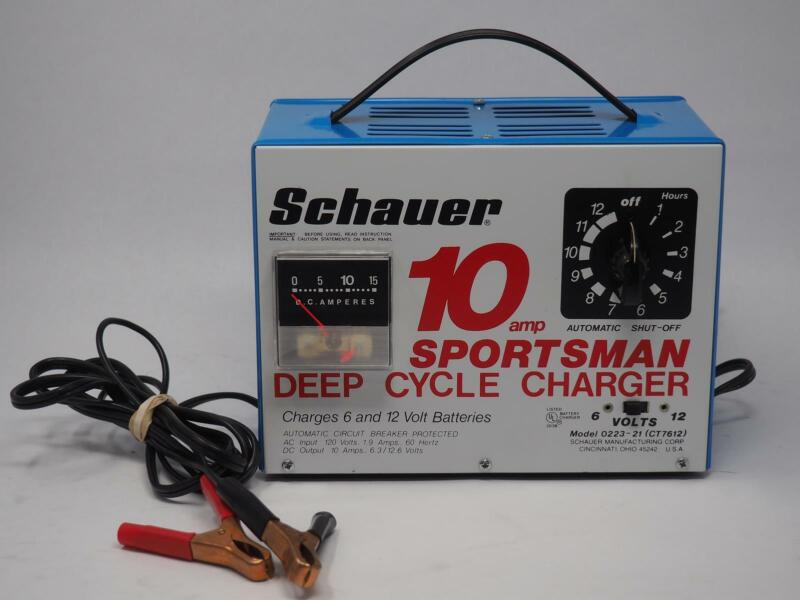 SCHAUER 0223-21 (CT7612) 10 AMP SPORTSMAN DEEP CYCLE CHARGER Tested! Free Ship!