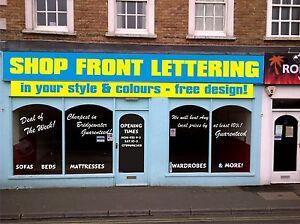 Shop Sign Window Vinyl Letters Numbers