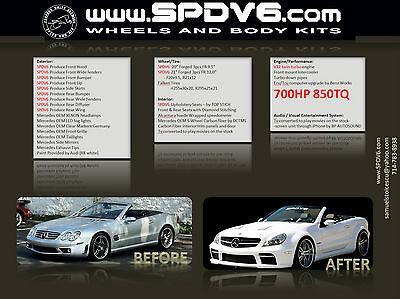 Conversion SL65 wide body kit into a half a million dollar car BLACK SERIES AMG