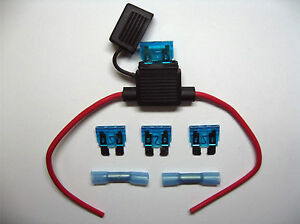 In-Line-standard-waterproof-Blade-Fuse-Holder-fuses-15a-15amp-kit-car-boat-bike