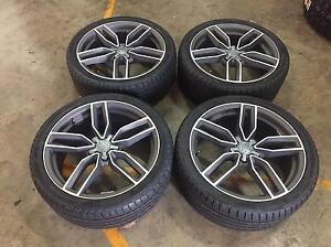 Audi A4 A5 A6 SQ5 Wheels and Momo Tyres still new Rockdale Rockdale Area Preview