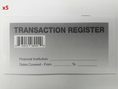 5 - Checkbook Transaction Registers - 2019-21 Calendar - Check Book Bank