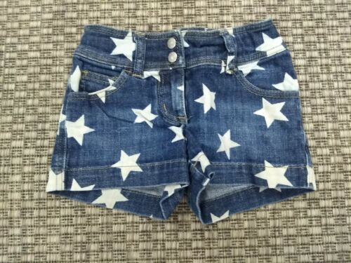 Mini Boden Starred Denim Shorts size 7 EUC