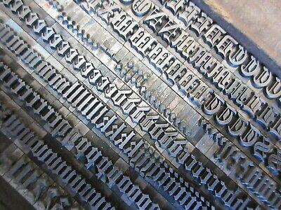 Letterpress Lead Type 30 Pt. Engravers Old Black  A47