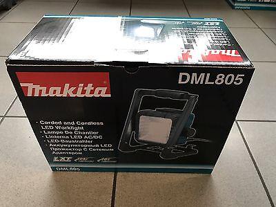 Makita Akku-Baustrahler DML805 14,4-18 V und 230 V DEADML805 Baustellenleuchte