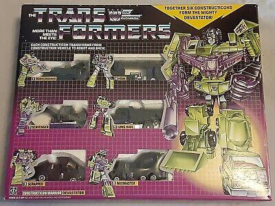 Transformers Constructicon Devastator Hasbro Decepticon Black reissue